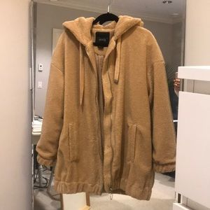 Jackets & Blazers - Omg teddy coat with hood